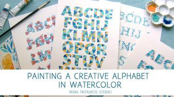 Painting a Creative Alphabet in Watercolor course image