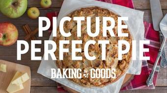 Picture Perfect Pie - Modernizing the classic apple pie recipe with a leafy, sharp cheddar crust. course image