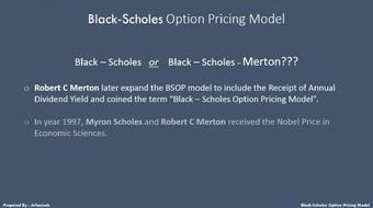 Black Scholes Option Pricing Model course image