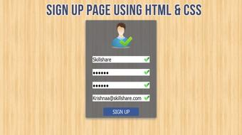 Create Sign Up Page with Validation Using HTML & CSS3 course image