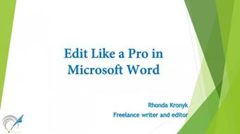 Edit Like a Pro in Microsoft Word course image