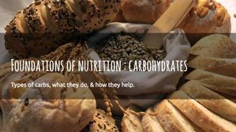 Foundations of Nutrition 2 : Carbohydrates course image