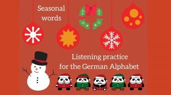 The German Alphabet - seasonal Christmas spelling practice course image