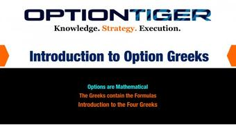 The Option Greeks - Delta, Gamma, Theta, Vega course image