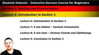 Intensive German: Part 2 - Spelling and Pronunciation course image
