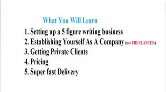 How To Create A 5 Figure Writing Business course image