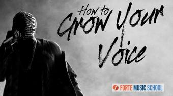 How to Grow Your Voice:  Create more sustained tone when you Sing course image