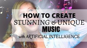 How To Create STUNNING & UNIQUE music with ARTIFICIAL INTELLIGENCE in just few seconds & for FREE! course image