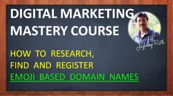 How To Research, Find And Register Emoji Based Domain Names course image