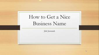 How to choose A perfect Business Name course image