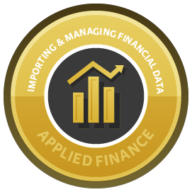 Importing and Managing Financial Data in R course image