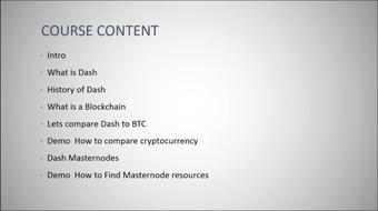 Introduction to Dash Cryptocurrency course image