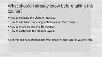 Blender 3D Animations series - Volume One course image
