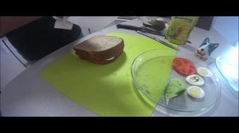 Peruvian cusine :Avocado salad Triple sandwich course image