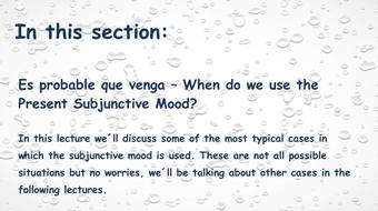 Intensive Spanish: Part 19 - Subjunctive Mood course image