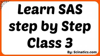 Learn SAS step by Step Class 3 course image