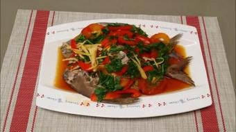 Chinese Style Healthy Steam Black Promflet Fish course image
