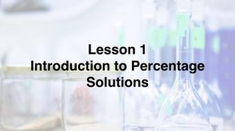 Calculating Percentage Solutions course image