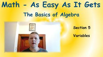 Math - As Easy As It Gets: The Basics of Algebra: Part 4 - Variables course image