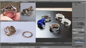 3D Printed Rings - Create and Print your own designs course image