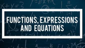 Algebra - Functions, Expressions and Equations course image