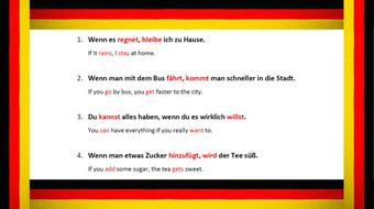 German Grammar Explained - Subjunctive Mood - Part 3: Conditional Sentences course image