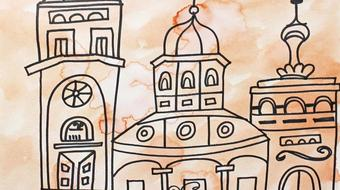 Art for Kids: How to Draw and Paint an Old Mansion Using Ink and Watercolor Paints course image