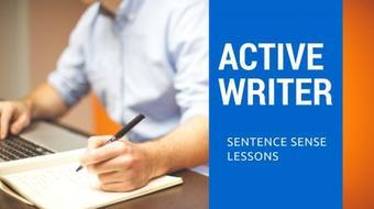 Sentence Sense: Becoming an Active Writer course image