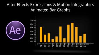 Adobe After Effects Expressions & Motion Infographics - Animated Bar Graphs course image
