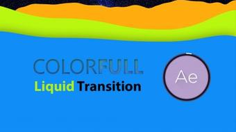 Motion Graphic | Colorful Liquid Transition in AE course image