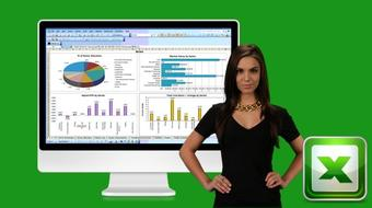 Interactive Dashboards with Excel Pivot Tables & PivotCharts course image