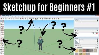 Sketchup For Beginners - How To Create Your First 3D House from Scratch With Sketchup (Part 1) course image