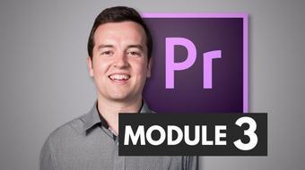 Premiere Pro Masterclass Module 3 - Transitions course image