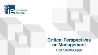 Critical Perspectives on Management course image