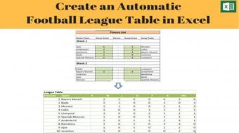 Create an Automatic Football League Table in Excel course image