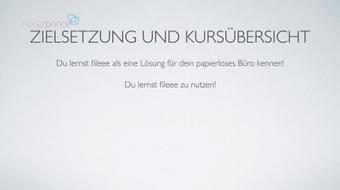 Papierloses Büro kostenlos mit fileee (Deutsch / German) course image