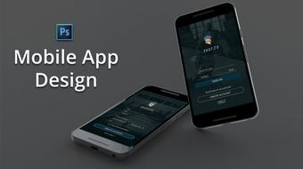 How to design Sign In and Sign Up Mobile Screens in Photoshop course image
