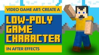 Video Game Art: Create A Low-Poly Game Character in After Effects course image