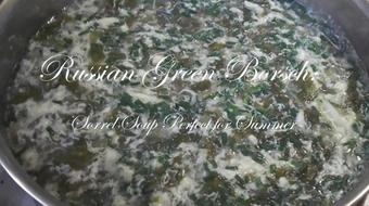 Green Borsch: Russian Cuisine Sorrel Soup Perfect for Summer course image