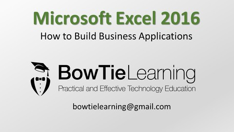 Microsoft Excel - How to Build Business Applications course image