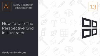 #13 How To Use the Perspective Grid in Adobe  Illustrator course image