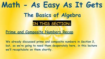 Math - As Easy As It Gets: The Basics of Algebra: Part 5 - Factoring course image