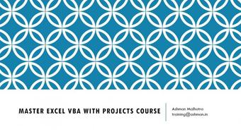 Master Excel VBA with Projects Course - Part 1 course image