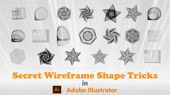 Secret Wire frame Shape Tricks in Adobe Illustrator course image