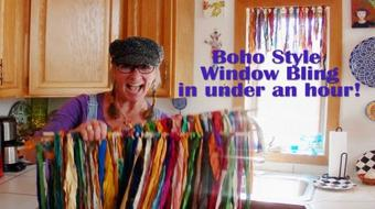 Boho Style Window Bling--In Under An Hour! course image