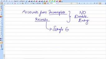 Accounts from Incomplete Records course image