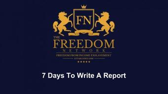 7 Days To Write Profitable Reports course image