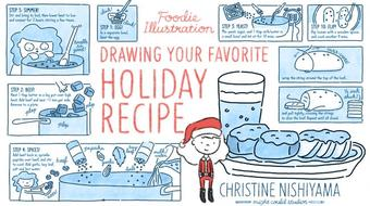 Foodie Illustration: Drawing Your Favorite Holiday Recipe course image