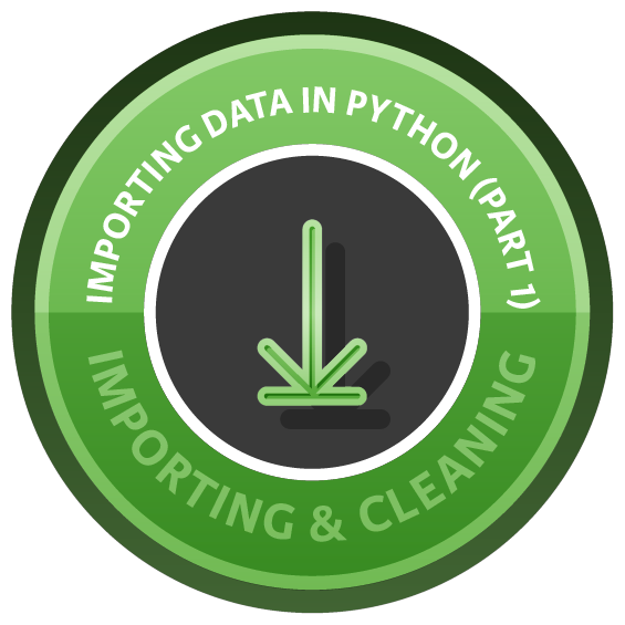Importing Data in Python (Part 1) course image