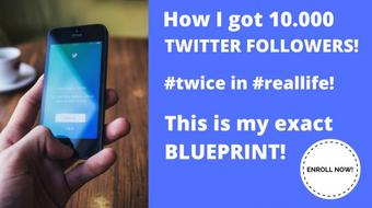  Twitter marketing and automation: Blueprint of my workflow / tools to get Twitter 10.000 Followers course image